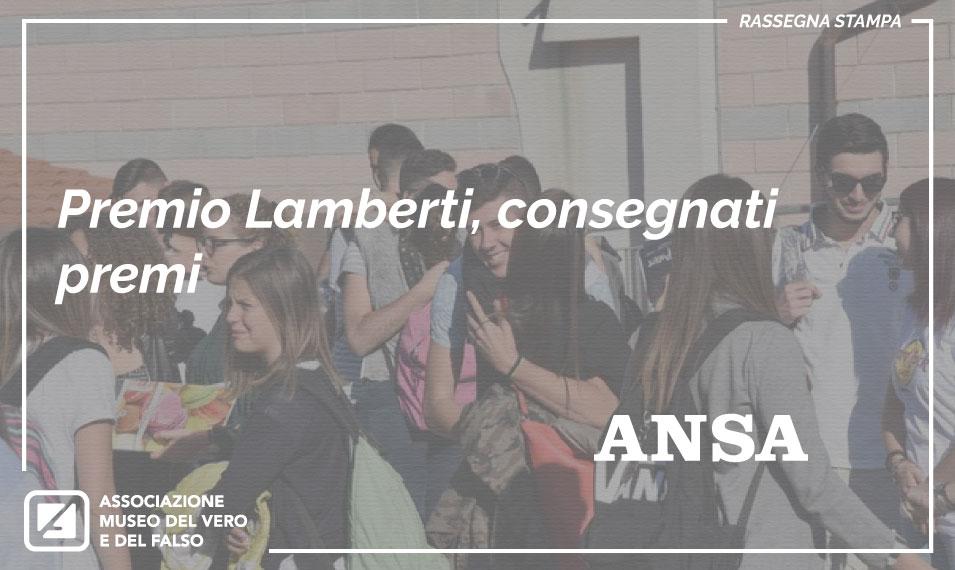 quarta edizione del Premio Amato Lamberti - ANSA